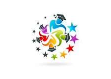Graduation  logo design Royalty Free Stock Photography