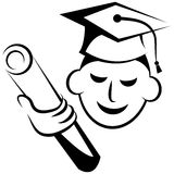 Graduation logo Stock Photo