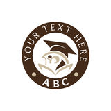 Graduation logo. University, School graduation - study logo Royalty Free Stock Image