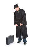Graduation: Male Graduate Now Has To Find A Job Royalty Free Stock Photo