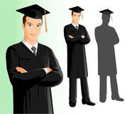 Graduation (man) Royalty Free Stock Photography