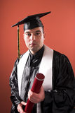 Graduation a man Royalty Free Stock Photo