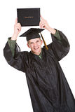 Graduation: Man With Diploma Excited to Graduate Stock Images