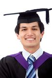 Graduation man isolated Stock Images