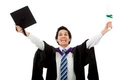 Graduation man portrait Royalty Free Stock Photo
