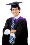 Graduation man portrait Royalty Free Stock Photography
