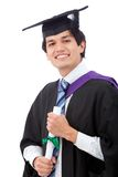 Graduation man portrait Royalty Free Stock Images