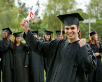 Graduation man portrait Stock Photo