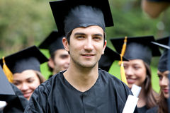 Graduation man portrait Royalty Free Stock Photos