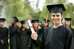 Graduation man portrait Stock Photography