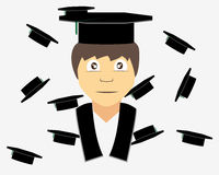 Graduation. A man who succes in his university Royalty Free Stock Image