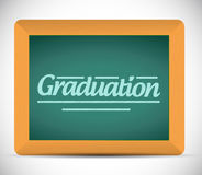 Graduation message written on a chalkboard Stock Image