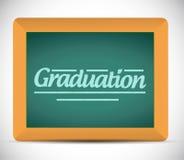 Graduation message written on a chalkboard Stock Image