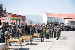 Graduation from Military Academy and provision of ID. Graduation from Military Academy and provision of military ID, La Paz, Bolivia stock photos