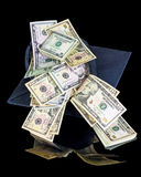Graduation money gift coming out of cap Stock Image