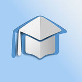 Graduation mortar hat icon Royalty Free Stock Photos