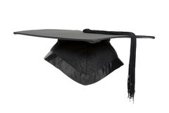 Graduation mortar isolated. Graduation mortar isolated over white background Stock Photography