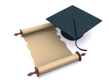 Graduation objects on white Royalty Free Stock Photography