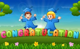 Free Graduation Of Children In The Park Royalty Free Stock Photography - 118303247