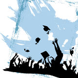 Graduation party. Grunge style graduation party vector Royalty Free Stock Images