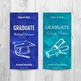 Graduation party invitation card. Graduation party flyer. Royalty Free Stock Images