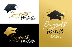Graduation party invitations, posters, greeting card, banner Royalty Free Stock Images