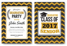 Graduation party vector template invitation Stock Images