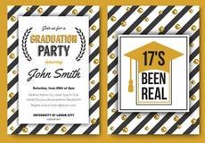 Graduation party vector template invitation Stock Photography