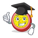 Graduation passion fruit character cartoon. Vector illustration Stock Image