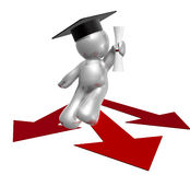 Graduation path icon figure. Graduation icon figure 3d render Royalty Free Stock Image