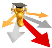 Graduation path icon figure. Graduation icon figure 3d render Royalty Free Stock Photography