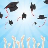 Graduation pattern. Illustration of graduation pattern on shiny background vector illustration