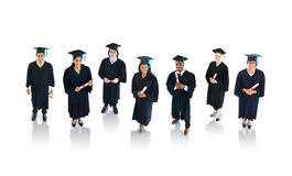 Graduation People Standing Smiling Together Stock Photography