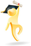 Graduation person Royalty Free Stock Image