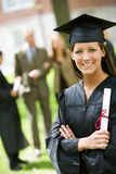 Graduation: Proud Female Graduate with Diploma Stock Images