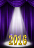 Graduation 2016 with purple cap Stock Images
