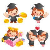 Graduation related event character Royalty Free Stock Photos