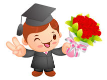 Graduation related event Mascot. Education and life Character De Royalty Free Stock Photo