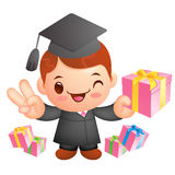 Graduation related event Mascot. Education and life Character De Stock Photo