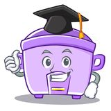 Graduation rice cooker character cartoon Royalty Free Stock Image