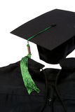 Graduation robe 2. Graduation robe and cap on white background Royalty Free Stock Images