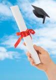 Graduation Scoll & Cap Royalty Free Stock Photography
