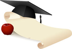 Graduation Scroll Royalty Free Stock Photo