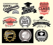 Graduation sector set for class of 2015 Royalty Free Stock Photo