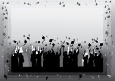 Graduation in silhouette Royalty Free Stock Photography