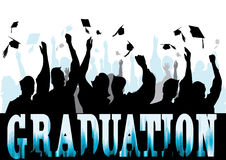 Graduation in silhouette Stock Images