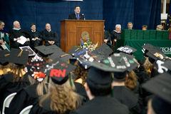 Graduation Speaker: Senator Joe Donnelly Stock Photo