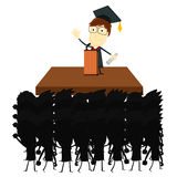 Graduation Speech audience Stock Photo