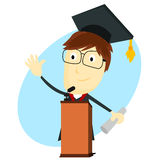 Graduation Speech Stock Photography
