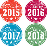 Graduation Stamps. High school and collage graduation stamps vector illustration
